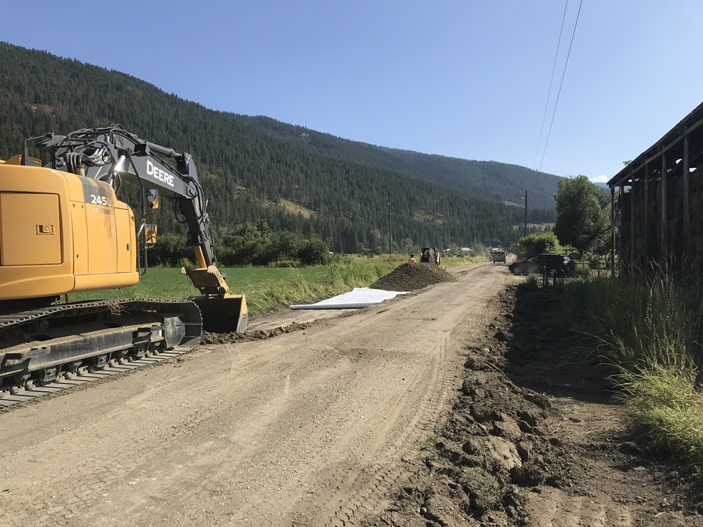 Back Enderby Road Construction